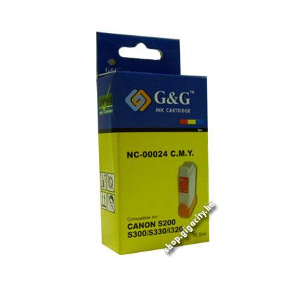 Canon BCI-24C (S200/300/i250/350/stb.) színes tintapatron GGC24C Canon IP1000 tintasugaras nyomtatóhoz