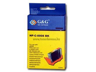 Canon CLI 8 fekete G&G patron chip nélküli!! VÉGKIÁRUSÍTÁS