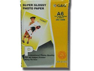 G&G fotópapír A6 20 lap 260g Super Glossy