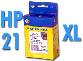 HP No. 21 XL extra nagy kapacítású 17ml!! kompatibilis patron HP DeskJet D1450 tintasugaras nyomtatóhoz