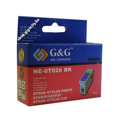 Epson C50/ Photo 810/820 fekete tintapatron G&G GGT026 Epson Stylus Photo 925 tintasugaras nyomtatóhoz