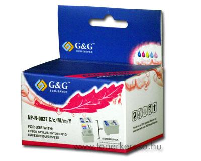 Epson Photo 810/820 színes tintapatron G&G GGT027 Epson Stylus Photo 810 tintasugaras nyomtatóhoz