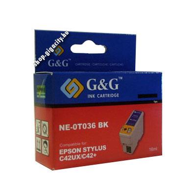 Epson C42 fekete tintapatron G&G GGT036 Epson Stylus C46 tintasugaras nyomtatóhoz