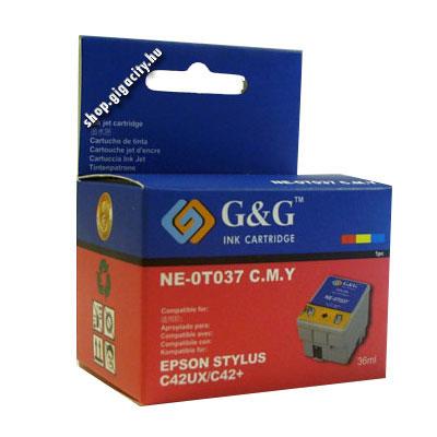 Epson C42 színes tintapatron G&G GGT037 Epson Stylus C42SX tintasugaras nyomtatóhoz