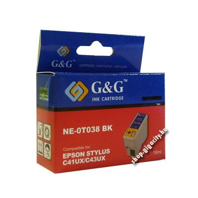 Epson C43/C41 fekete tintapatron G&G GGT038 Epson Stylus C41 tintasugaras nyomtatóhoz