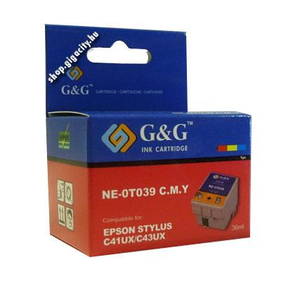 Epson C43/C41 színes tintapatron G&G GGT039 Epson Stylus C41 tintasugaras nyomtatóhoz