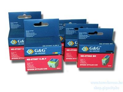 Epson C48 kedvezményes tintapatron csomag G&G GGT066P Epson Stylus C48 tintasugaras nyomtatóhoz