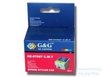 Epson C48 színes tintapatron G&G GGT067 Epson Stylus C48 tintasugaras nyomtatóhoz