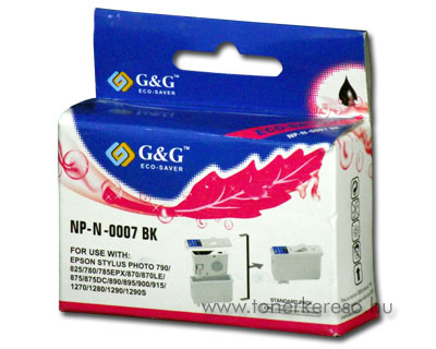 Epson Photo 780/870/890/900/1270/1290 fekete tintapatron GGT007