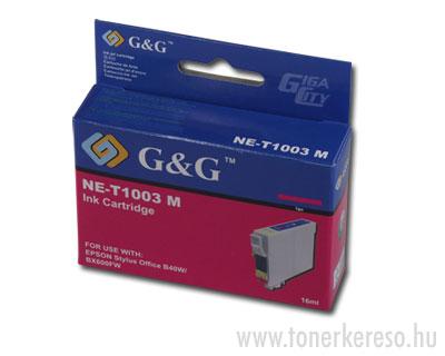 Epson T1003 magenta tintapatron G&G kompatibilis Epson Stylus Office B1100 tintasugaras nyomtatóhoz
