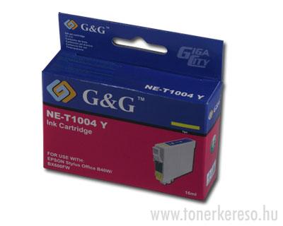 Epson T1004 yellow tintapatron G&G kompatibilis Epson Stylus Office BX610FW tintasugaras nyomtatóhoz