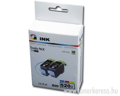 Canon PGI-520 kompatibilis tintapatron 2db-os csomag G-ink GIC52 Canon Pixma iP3600 tintasugaras nyomtatóhoz