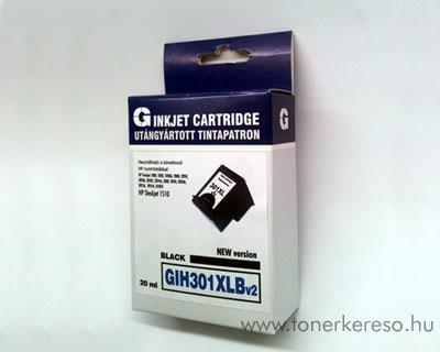 HP CH563 301XL utángyártott fekete tintapatron DeskJet 1510-hez  HP DeskJet 1510 tintasugaras nyomtatóhoz