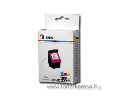 HP 300XL színes kompatibilis nagykap. patron HP DeskJet D1660 tintasugaras nyomtatóhoz