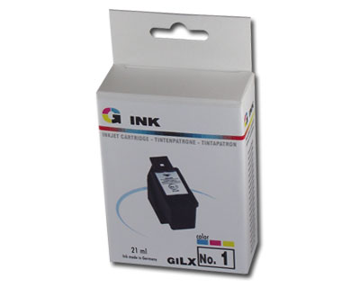 Lexmark no. 1 kompatibilis tintapatron GILX1 (21ml) Lexmark X3470 tintasugaras nyomtatóhoz