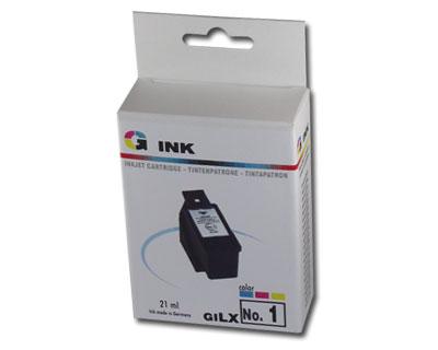 Lexmark no. 1 kompatibilis tintapatron GILX1 (21ml) Lexmark X2300 tintasugaras nyomtatóhoz