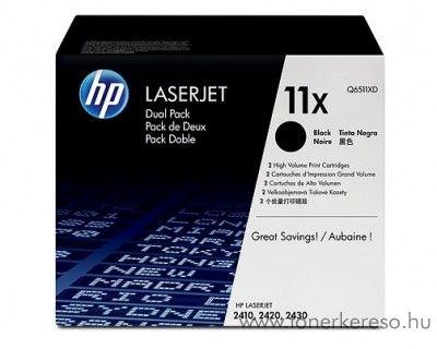 HP 11X eredeti fekete black dupla toner Q6511XD