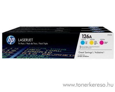 Hp 126A eredeti CMY toner csomag CF341A