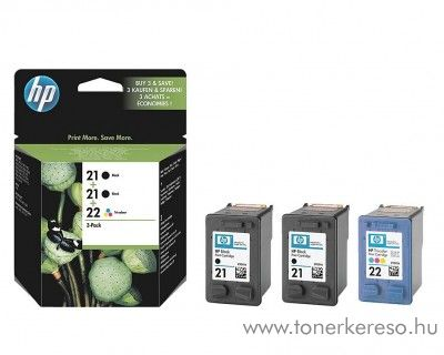 HP 21+21+22 eredeti tintapatron pack SD400AE HP Deskjet 3940 tintasugaras nyomtatóhoz