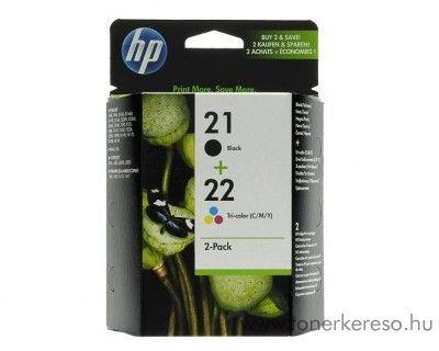 HP 21+22 eredeti fekete és színes tintapatron csomag SD367AE   HP Deskjet F2200 All-in-One Series tintasugaras nyomtatóhoz