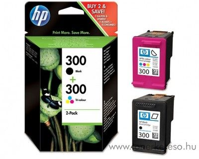 HP 300 eredeti BCMY tintapatron csomag CN637EE HP Deskjet D2560 tintasugaras nyomtatóhoz
