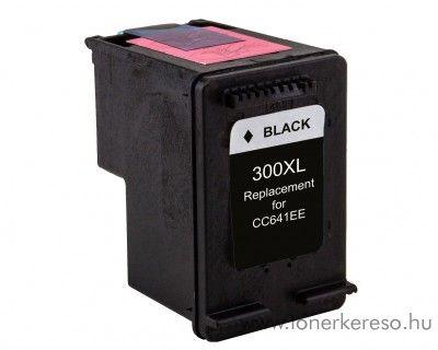 HP 300XLBk fekete black kompatibilis nagykapacitású tintapatron