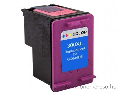 HP 300XLC színes color kompatibilis nagykapacitású tintapatron HP DeskJet D2563 tintasugaras nyomtatóhoz