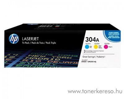Hp 304A eredeti CMY toner csomag CF372AM HP Color LaserJet CM2320fxi lézernyomtatóhoz