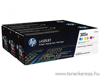 Hp 305A eredeti CMY toner csomag CF370AM HP LaserJet Pro 400 M451nw lézernyomtatóhoz