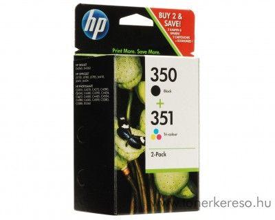 HP 350+351 eredeti fekete és színes tintapatron csomag SD412EE HP DeskJet D4364 tintasugaras nyomtatóhoz