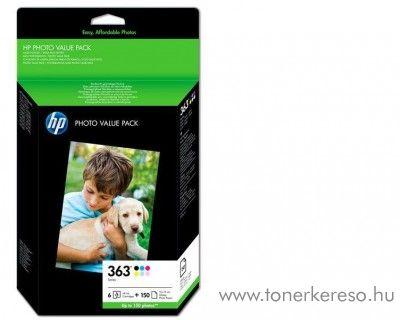 HP 363 eredeti 6 színű tintapatron csomag + papír Q7966EE