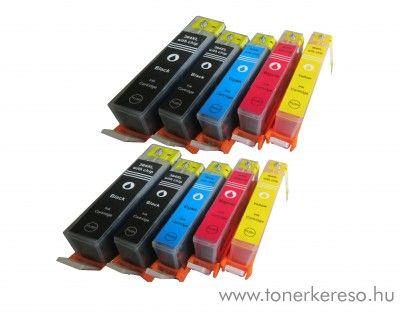 HP 364XL utángyártott 10 db-os patroncsomag + chip  HP Photosmart 5522 e-All-in-One  tintasugaras nyomtatóhoz