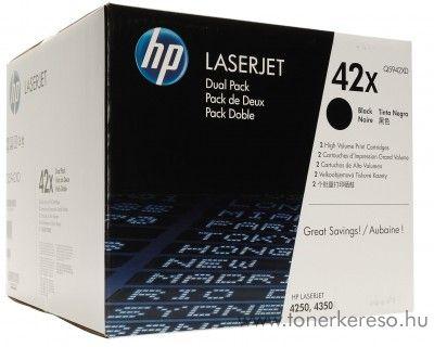HP 42X eredeti fekete black dupla toner Q5942XD HP LaserJet 4250dtnsl lézernyomtatóhoz