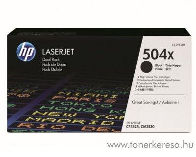 HP 504X eredeti fekete black toner CE250XD