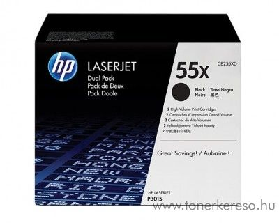 HP 55X eredeti fekete black dupla toner CE255XD HP LaserJet Pro 500 M521dn lézernyomtatóhoz