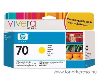 HP 70Y eredeti yellow tintapatron C9454A