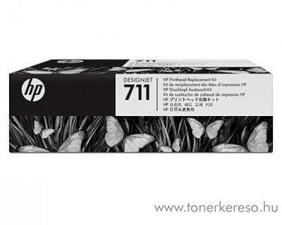 HP 711 eredeti designjet tartalék nyomtatófej készlet C1Q10A