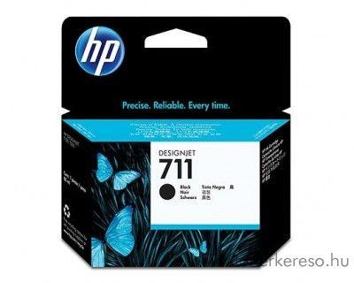 HP 711 eredeti fekete black nagykap. tintapatron CZ133A