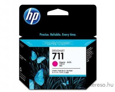 HP 711 eredeti magenta tripla tintapatron csomag CZ135A