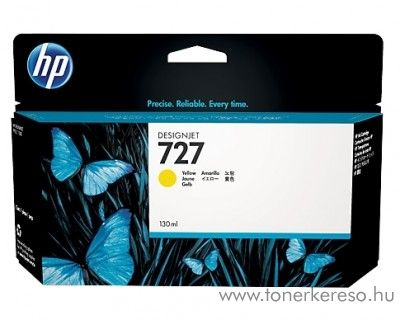 HP Designjet T2500 (727) eredeti yellow tintapatron B3P21A HP Designjet T2500 tintasugaras nyomtatóhoz