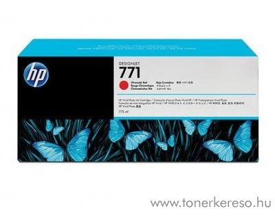 HP 771 eredeti chromatic red tintapatron CE038A
