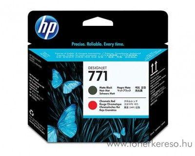 HP 771 eredeti matt fekete és chromatic red nyomtatófej CE017A HP DesignJet Z6200 tintasugaras nyomtatóhoz