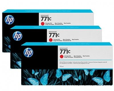 HP Djet Z6200 (771C) 3db eredeti chromatic red tintapatron B6Y32