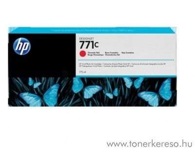 HP 771C eredeti chromatic red tintapatron B6Y08A
