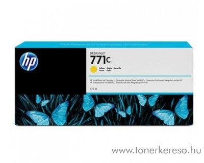 HP 771Y eredeti yellow tintapatron B6Y10A HP DesignJet Z6200 tintasugaras nyomtatóhoz
