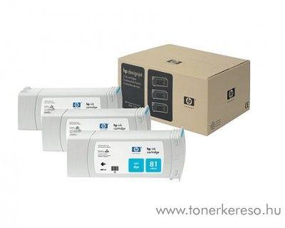 HP 81 eredeti cyan tripla tintapatron csomag C5067A HP DesignJet 5000 tintasugaras nyomtatóhoz