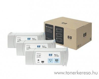 HP 83 eredeti light cyan tripla tintapatron csomag C5076A HP DesignJet 5500ps UV tintasugaras nyomtatóhoz