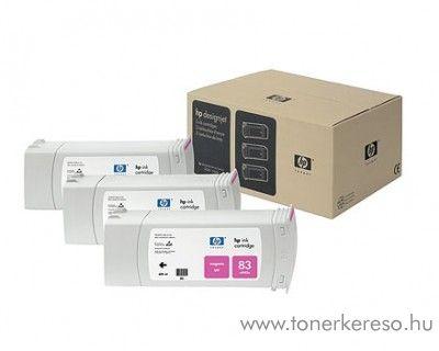 HP 83 eredeti magenta tripla tintapatron csomag C5074A HP DesignJet 5500ps UV tintasugaras nyomtatóhoz
