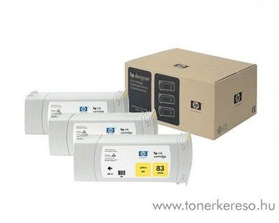 HP 83 eredeti yellow tripla tintapatron csomag C5075A HP DesignJet 5500ps tintasugaras nyomtatóhoz