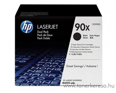 HP 90X eredeti fekete black dupla toner CE390XD